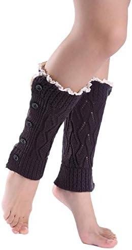 Women Winter Warm Knit Crochet Thigh-High Leg Warmers Leggings Boot Socks Slouch
