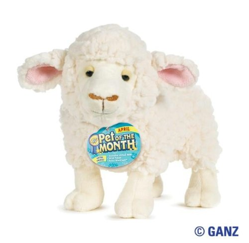 Webkinz Sheep - Webkinz Fleecy Sheep April Pet of the Month