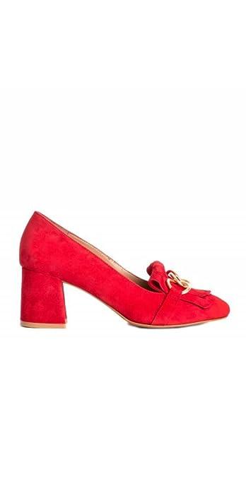 Mocasines Tacón Rojos PERA LIMONERA - Color - Rojo, Talla Zapatos Mujer - 37: Amazon.es: Zapatos y complementos