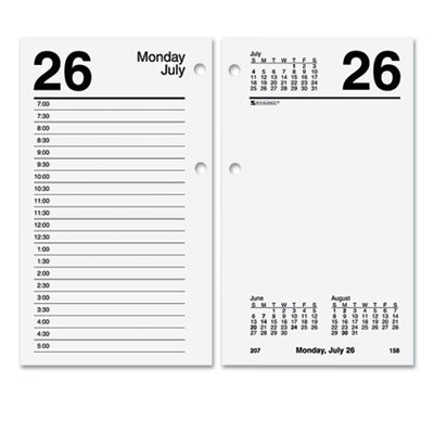 Recycled Desk Calendar Refill, 3 1/2 x 6, White, 2018