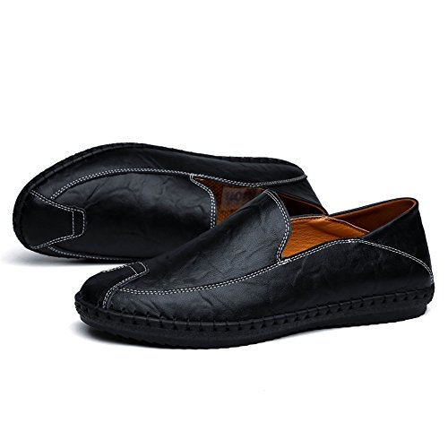 slip EU uomo tinta Nero on Shufang Dimensione pelle 2018 minimalismo Da Bianca in Scarpe unita 38 Mocassini casual mocassini moda shoes Uomo Color Mocassini qw4zwBxF