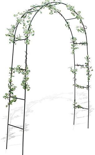 takestop® - Arco de jardín con Soporte para Plantas, Rosas ...
