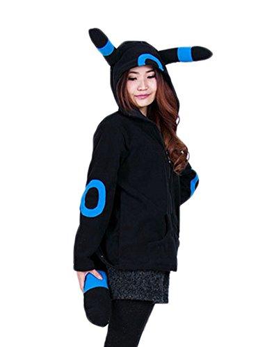 OLadydress Cute Animal Hoodie for Unisex Adult Eye-Catching Living Anime Style UMBN-BU Small]()