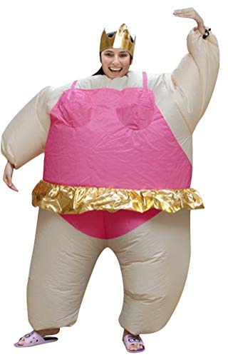Girl Sumo Wrestler Costume (SATUKI Inflatable Costumes Adult,Halloween Funny Sumo Wrestler Wrestling Suits Blow up Cosplay)