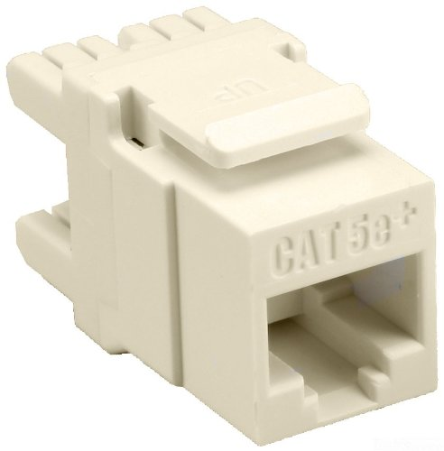 8 Conductor 8 Position 1 Port Allen Tel AT65-09 Category 5e High Density Jack Module Ivory 110 Termination T568-A//B Wiring