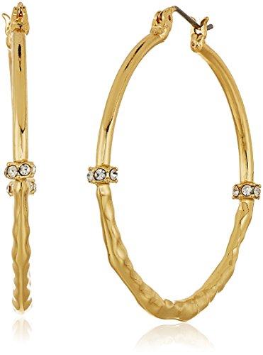 t-tahari-half-hammered-gold-hoop-earrings