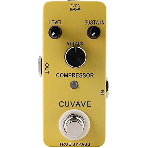 heaven2017 Guitar Effect Pedal, Attack Sustain Level Control True Bypass Compressor