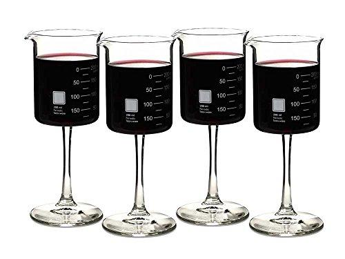 Periodic Tableware Laboratory Beaker Wine Glasses