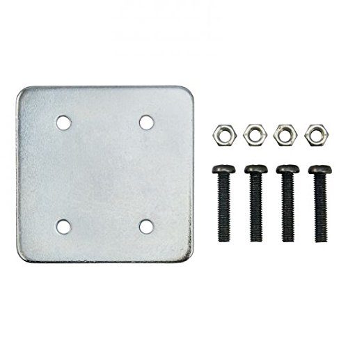iBOLT 4 Hole AMPS Pattern Metal Backing Plate with Screws- Great for All AMPS Pattern Drill Base mounts