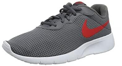 Nike Tanjun GS Unisex Kids' Sneakers , Dark Grey/University Red/White 020 , 5.5 UK (38 EU) (NK818381_020)