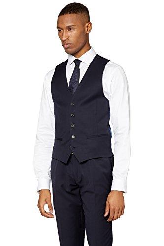 DKNY Men's Slim Fit Navy Twill Suit Vest 36R - Shop Dkny London