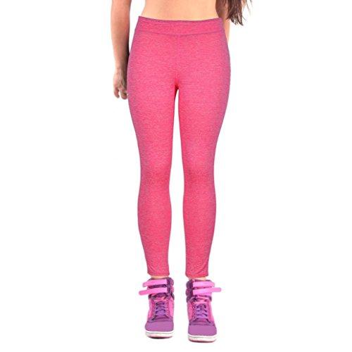 HARRYSTORE Mujer Pantalones elásticos de yoga Mujer Pantalones deportivos elásticos y cómodos mujer Polainas Leggings Sandía roja