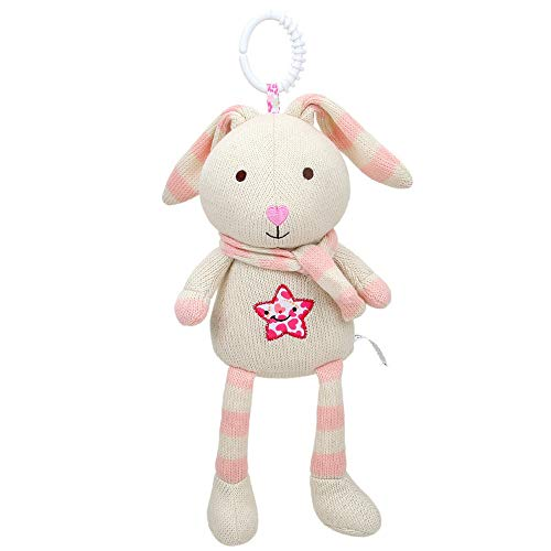 Hisoul Bed Hanging Plush Toy Cute Animal Hanging Bell Play Toys, for Baby, Girls, Boys, Newborn - Great for Nursery, Room Decor, Bed - 5.91