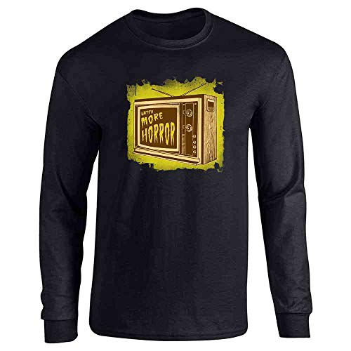 Pop Threads Watch More Horror Retro Halloween Costume Zombie Black L Long Sleeve T-Shirt -