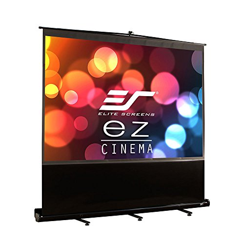 Elite Screens ezCinema Series, 84-inch 4:3, Portable Floor Pull Up Projection Screen, Model: F84NWV