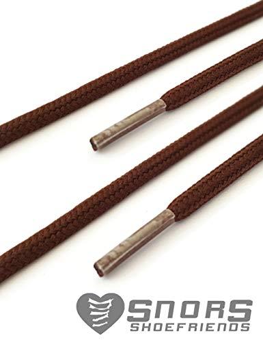 Stringhe Scarpe 4 Colorate 26 Marrone Colori Scuro 2 Colorati Lacci Snors Lunghezze Per Mm 3 Rotondi qwXt7v6xO