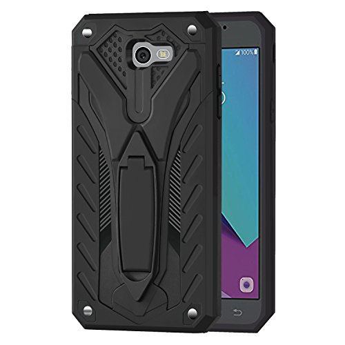 Ownest Compatible Galaxy J7 V Case,Galaxy Halo/J7 Prime/J7 Perx/J7 Sky Pro Case, Dual Layer 2 in 1 with Extreme Heavy Duty Protection and Kickstand Case for Samsung Galaxy J7 2017-Black