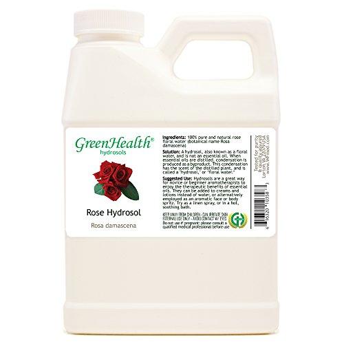 Rose Hydrosol - 16 fl oz Plastic Jug w/Cap - 100% pure, distilled from essential oil