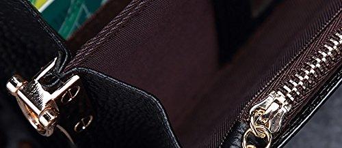 CLOTHES- L'Europa e gli Stati Uniti Lady Portafoglio Portafoglio multifunzionale portafoglio multifunzionale in pelle modello lungo coccodrillo