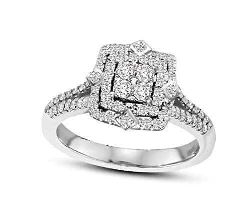 100% Real Diamond Ring 1/2 ct Lab Grown Designer Diamond for sale  Delivered anywhere in USA