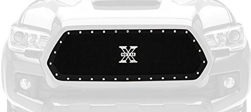 - T-Rex 6719411 X-Metal Series Mild Steel Main Grille Insert with Small Mesh for Toyota Tacoma Black Powdercoat