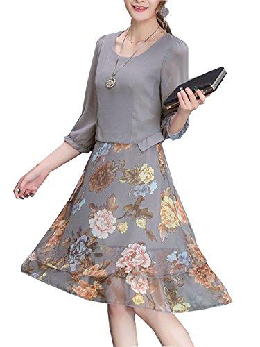 Neck Chiffon Women Dresses - 6