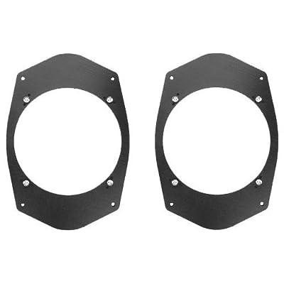 """Universal 6""""x9"""" 6x9 to 6 1/2"""" 6.5 Speaker Adapter Spacer Rings - SAK045_55-1 Pair: Car Electronics"""