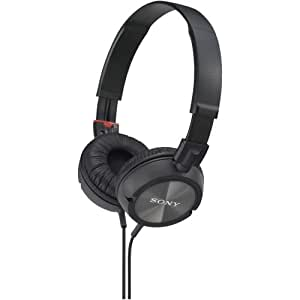 Sony MDR-ZX300 Stereo Wired Headphones Supra-Aural On-the-ear Lightweight Collapsible with Neodymium Magnets & 30mm Drivers, Indoor & Outdoor, PET Multi-Layer Dome Diaphragms, and Deep Bass Tones (Black) ZX Series (Certified Refurbished)