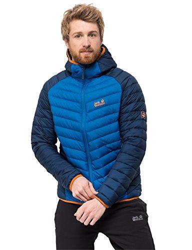Jack Wolfskin Men's Zenon Storm Windproof Down Puffer Jacket, Electric Blue, X-Large - Patagonia Storm Jacket