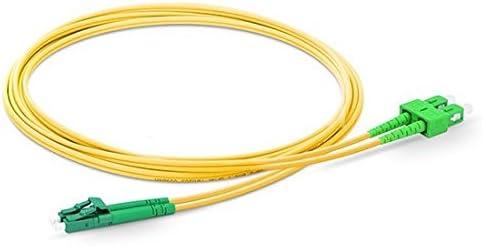 0.5M-200M 100m Fiber Optic Cable LC//APC to SC//APC Singlemode Duplex OS2 9//125mm Fiber Optic Patch Cord Length Options