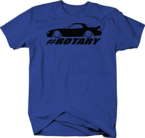Mazda RX-7 Lowered Custom Rotary Engine Racing Color Tshirt - Small