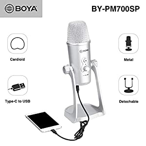 BOYA USB Condenser Microphone for iOS Android...