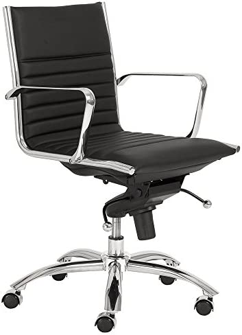 Zuri Furniture Kinsey Low Back Leatherette Adjustable Office Chair