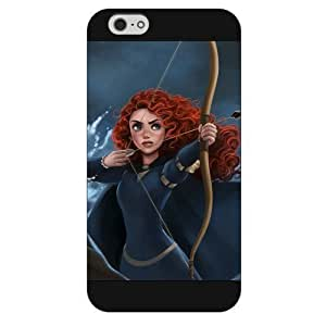 Diy Black Frosted Disney Brave Princess Merida For Iphone 5C Case Cover Case, Only fit For Iphone 5C Case Cover