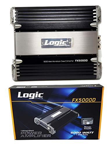 Class D Power Mono Block 1 Channel 5000 Watt Amplifier Car Audio FX5000D