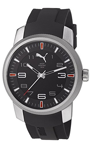 PUMA Time essence black dial black strap PU103071001 men's [regular imported goods]