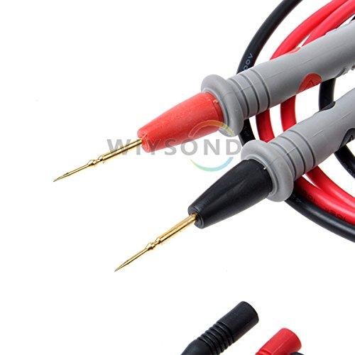 Wiysond Multimeter Meter Tester Needle Point 1000V 20A 35″/90 cm (Gray) Test Probe Lead