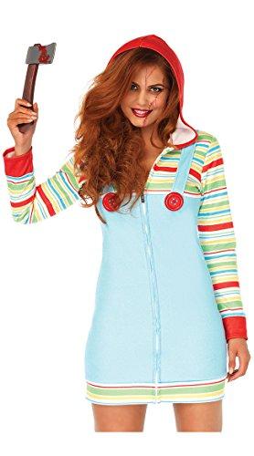 Leg Avenue Women's Cozy Killer Doll Halloween Costume, Multi Small for $<!--$11.48-->