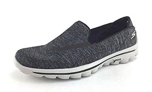 Skechers Performance Dames Go Walk Glitz Walking Shoe Heather Charcoal 6 M Us