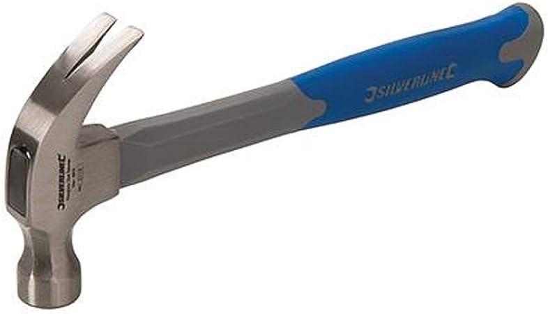 Silverline HA10 - Martillo sacaclavos con mango de fibra de vidrio (454 g): Amazon.es: Bricolaje y herramientas