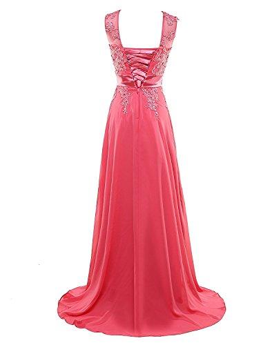 Lang Abendkleider Applikationen Chiffon Ballkleid Kleider Beyonddress Lindgrün Brautjungfern Damen fwSqaSIz7