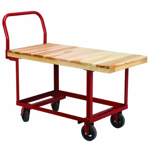 Akro-Mils RWH2448EA5M6 Wood Deck Fixed Work Height Platform Truck with 1500-Pound Capacity, 24-Inch by 48-Inch by Akro-Mils