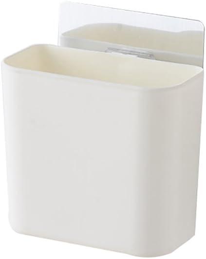 Lsgepavilion Bathroom Kitchen Wall Mounted Storage Rack Adhesive Basket Holder Organizer Drainage Case White