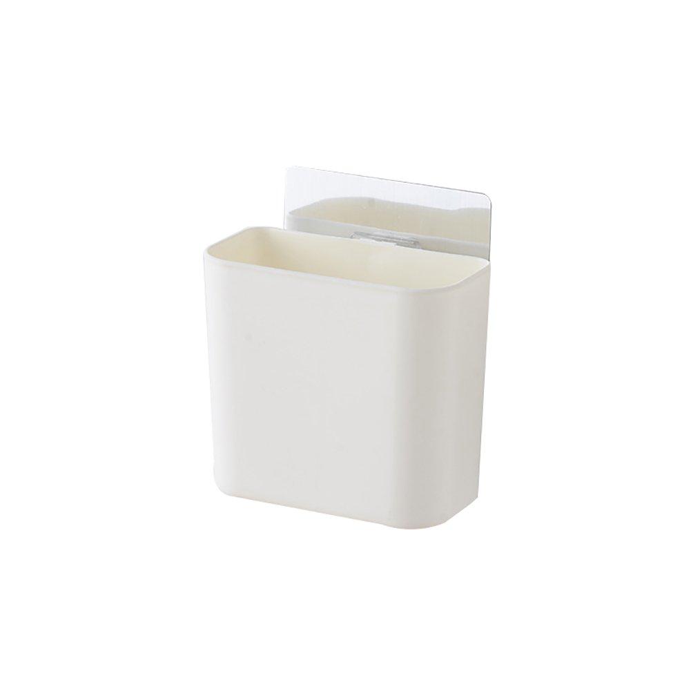 VelvxKl /Porta spazzolini da muro Portaoggetti adesivi Portaoggetti da basket Porta spazzolini Portaoggetti da bagno White