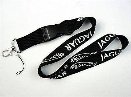 okokk90909o Auto cordón Car Logo Lanyard Llavero Llavero Tarjeta de identificación móvil Correa Colgante Llavero de Regalo(Jaguar)
