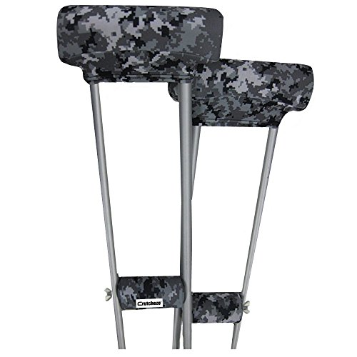 Crutcheze Digital Snow Camo Underarm Crutch Pad and Hand Grip Covers with Comfortable Padding Designer Fashion Orthopedic Products - Grip Crutch Hand Pad