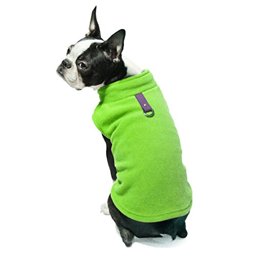 (Gooby Every Day Fleece Cold Weather Dog Vest for Small Dogs, Lime, Large)