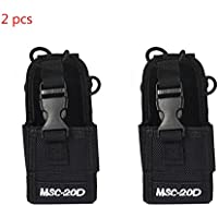 2 Pack of MSC-20D Walkie Talkie Pouch Nylon Radio Case Holster for Baofeng Motorola Kenwood Icom Radio