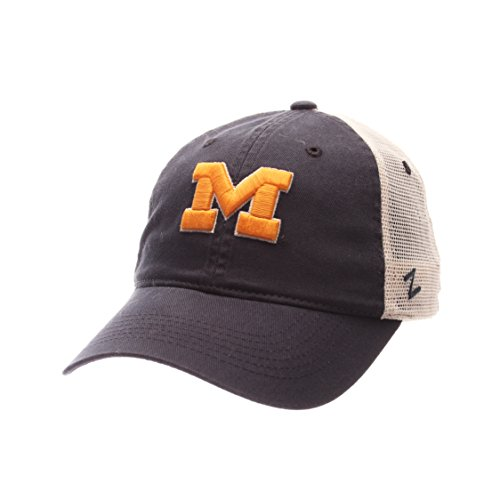 - ZHATS NCAA Michigan Wolverines Adult Men University Relaxed Cap, Adjustable, Team Color/Stone