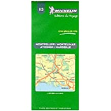 Michelin Map No. 113 Montpellier Montelimar Avignon Marseille (France), Scale 1:60,000 (French Edition)